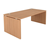 tafel bureau hout beuk stevig werkpost kabeldoorgang vol onderstel vol zwaar panelen