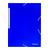 blauw plastieken mapje met elastiek